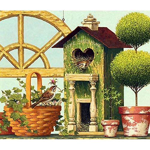 DIY Diamond Painting 5D Square Diamond Bird's nest Bird 30x25cm Crystal Embroidery Rhinestone Painting Paste Handicraft Mosaic kit