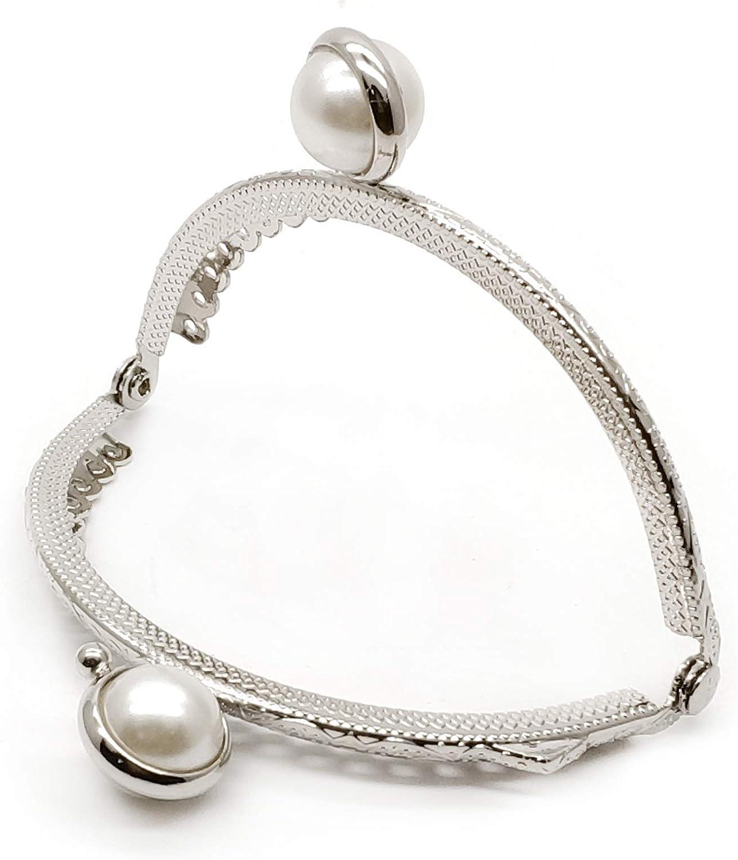 8.5cm, Silver ZLYY 2Pcs 8.5cm //3.3 Inch Metal Purse Frame Coin Bag Kiss Clasp Lock DIY Craft Silver