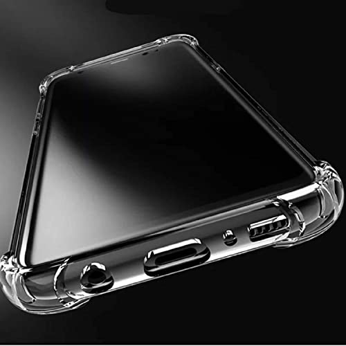 Caresale Transparent Back Case Cover for Realme Narzo 10A Anti Drop Shockproof with Bumper Corner Screen and Camera Protection Soft TPU Case Transparent