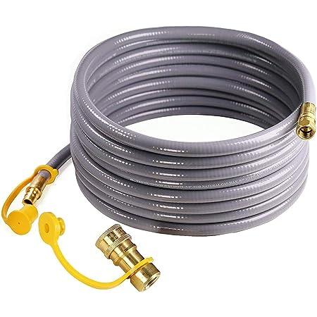 "Propane Gas Hose 40 cm 1//4/"" Threaded x Compression Fitting 8mm for Burner"