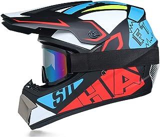 Cascos Motocross, Homologado Dot Cross Moto Infantil, Ligero