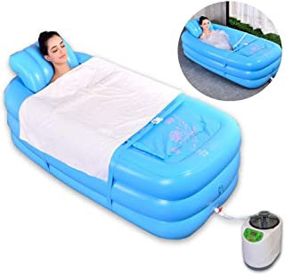 Adult Inflatable Bathtub, Portable Sauna Tent, Foldable One Person Full Body Spa for Weight Loss Detox Therapy without Ste...