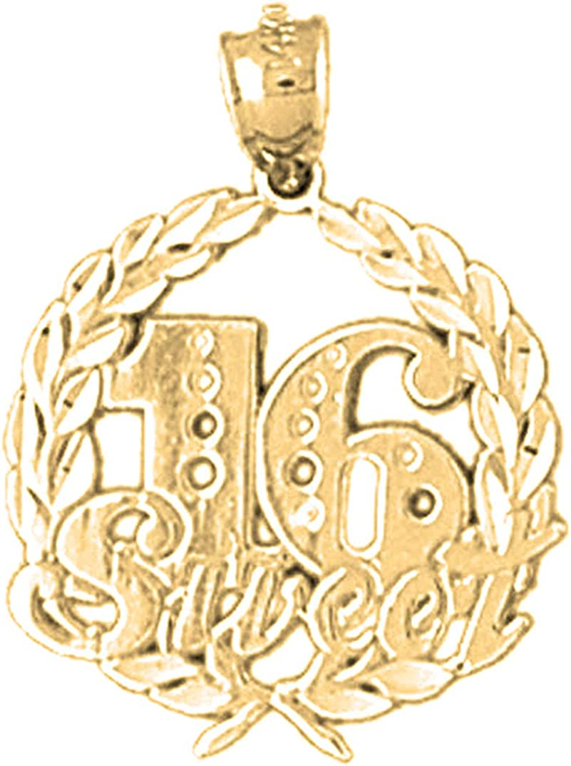 Jewels Factory outlet Obsession Silver Sweet Nippon regular agency 16 Yellow Gold-plate 14K Pendant