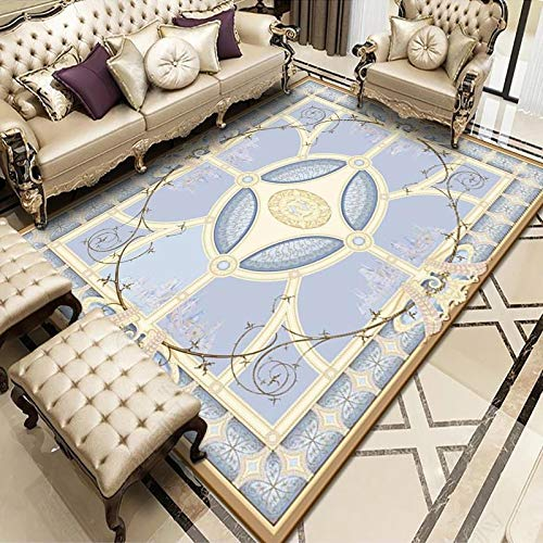 ZAZN New Chinese Style Carpet, European-Style Household Printing, Large Carpet, Living Room, Coffee Table, Sofa Cushion, Bedroom Bedside Blanket, Non-Slip Thick Material