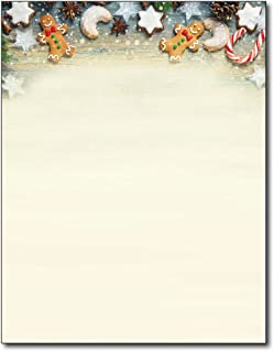 Cookie Exchange Christmas Holiday Letterhead Paper - 80 Sheets