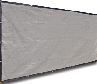 ALION HOME Classy Durable Privacy Screen for Pool, Railing, Backyard Deck, Patio, Fence, Porch - Smoke Grey (5' x 12')