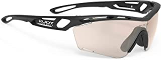 Tralyx Slim Sports Running and Cycling Sunglasses - Matte Black Frame - ImpactX-2 Photochromic Clear to Laser Red Lens