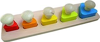 30 x 30 x 4 cm Andreu Toys 16714 Geometric Sliding Game Multi Colour