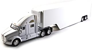 HCK Kenworth T2700 Commercial Container Big Rig Truck - Diecast Model Toy Cars in White
