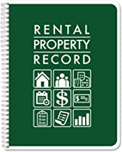 BookFactory Rental Property Record Book/Rental Property Log Book - Wire-O, 100 Pages, 8.5