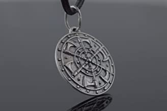 Kolovrat Pendant with Axe Symbol Sterling Silver Unique Jewelry