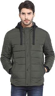 t-base Olive Solid Padded Jacket - Jacket for Men