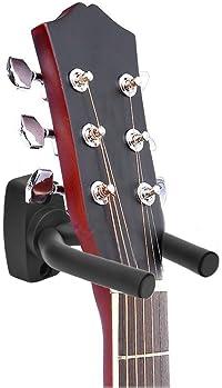 Guitar Hanger Hook Holder Wall Mount Display Acoustic Guitar Stand Ukulele Bass Mandolin Banjo Wall Mounts Hangers Bl...