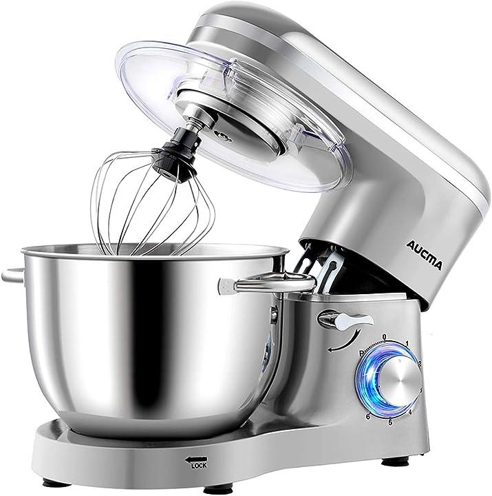 Impastatrice planetaria da 1400w,robot da cucina mixer 6.2l, miscelatore cucina per uso alimentare, 6 velocità B08FB84G3P
