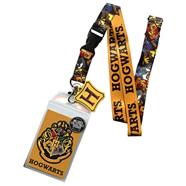 Harry Potter Hogwarts Lanyard with Metal Charm ID Card Holder and Collectible Sticker