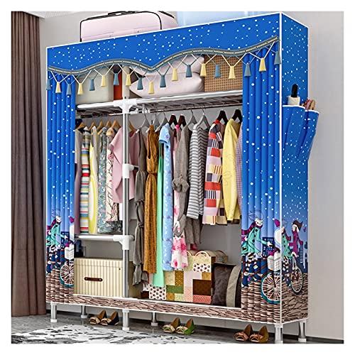 Armario Closet organizador Amplio almacenaje Closet Portátil Armario Armario Almacenamiento Organizador Armario Almacenamiento Closet Closet Portable Organizador Gran capacidad Perchero Organizador