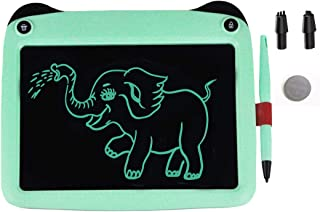 VNVDFLM 9 inch Electronic Drawing Pads for Kids, Portable Reusable Erasable Writer,Elder Message Board,4-8 Years Old Boys for Digital Handwriting Pad Doodle Board for School (s-Green)