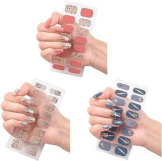 Autoadhesivas Calcomanías De Uñas Envolturas Autoadhesivo Nail Art Decals Strips Monocromo Mashup Girl Nail Art Design Autoadhesivo Manicure Sticker Hermosa Moda Diy Decoración 3 Hojas 48 Unids