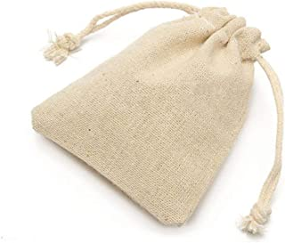 walmeck 50Pcs Natural Burlap Bags Linen Pouches Sacks with Drawstring Burlap Jute Bags Reusable Eco-Friendly Small Storage...