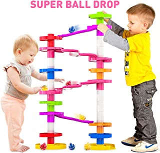 WEofferwhatYOUwant Super Ball Drop with Double Bridge and Spacers for High and More Stable Structures for Toddlers and Preschool. Safe for Ages 10 Months to Adults.