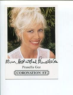 Prunella Gee James Bond Girl Coronation Street Signed Autograph Photo