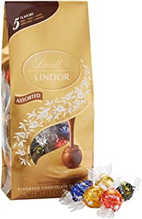 Lindt LINDOR Assorted Chocolate Truffles, Kosher, 21.2 Ounce Bag
