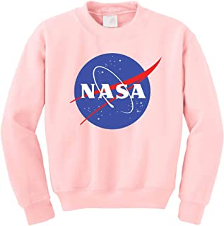 NuffSaid NASA Meatball Logo Worm Crewneck Sweatshirt Sweater Pullover - Unisex Crew