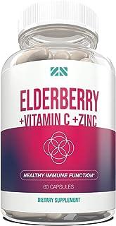 Elderberry+Vitamin C+Zinc - Supports Healthy Immune Function - Echinacea & Probiotics Supplement for Defense, Repair & Vit...