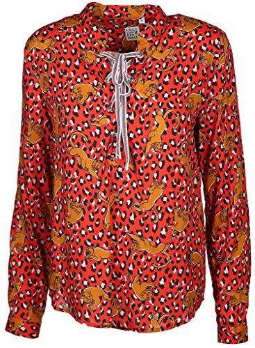 Emily van den Bergh Damen Bluse Größe 38 EU Rot (rot)
