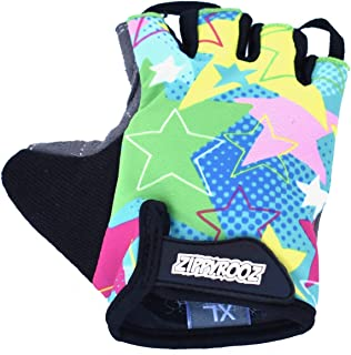 ZippyRooz Toddler & Little Kids Bike Gloves for Balance and Pedal Bicycles (Formerly WeeRiderz) for Ages 1-8 Years Old. 8 Designs for Boys & Girls