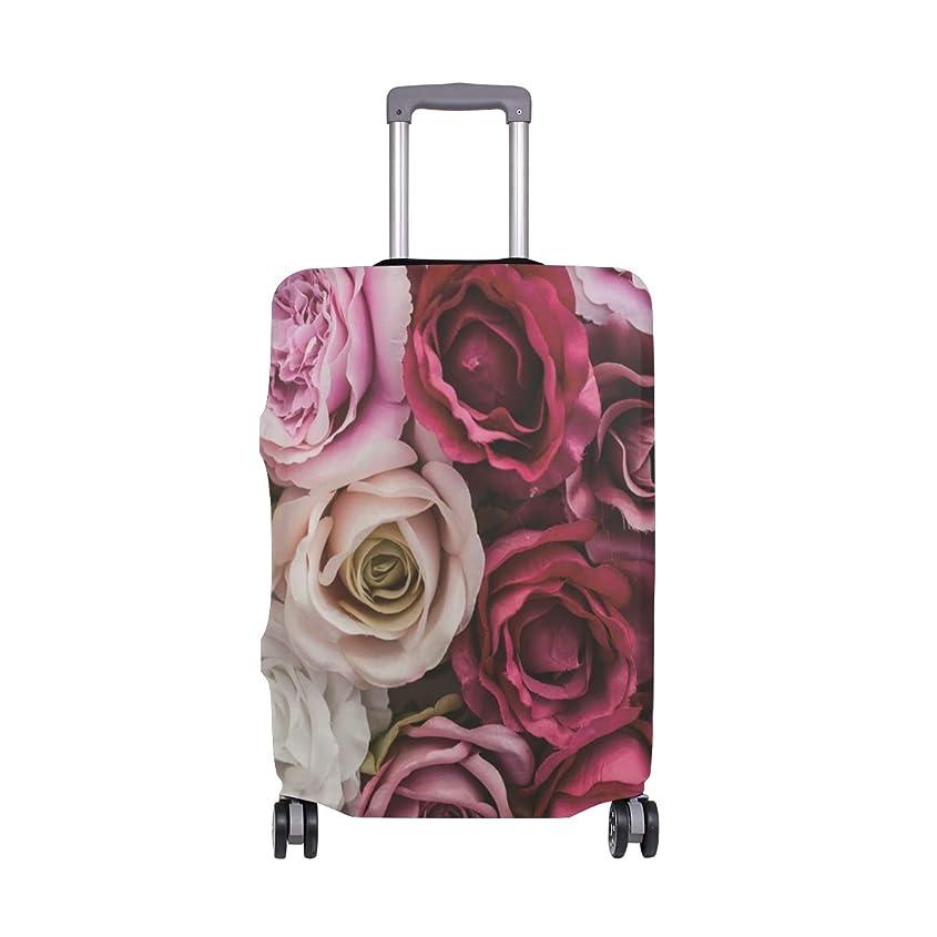 からに変化するベスト多数のバラの壁 スーツケースカバー 弾性素材 おしゃれ トラベルダストカバー 傷防止 防塵カバー 洗える 18-32インチの荷物にフィット