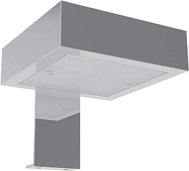 Allibert Armoire de Toilette Miroir Meuble de Salle de Bain Pré-assemblé 80cm avec Éclairage LED Corpus Gris Asphalte Brillan