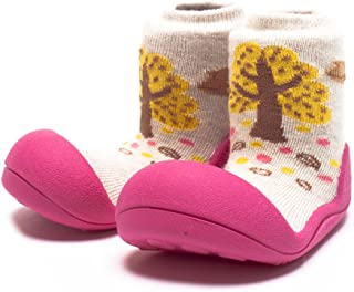 Attipas Giraffe Baby Walker Shoes, Fuchsia, Medium