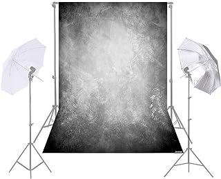 Andoer Andoer 1.5 * 2.1m/5 * 7ft Photography Background Grey Retro Wall Backdrop for DSLR Camera Photo Studio Video Weedin...