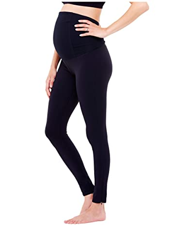 Ingrid & Isabel Maternity Active Leggings w/ Crossover (Jet Black) Women