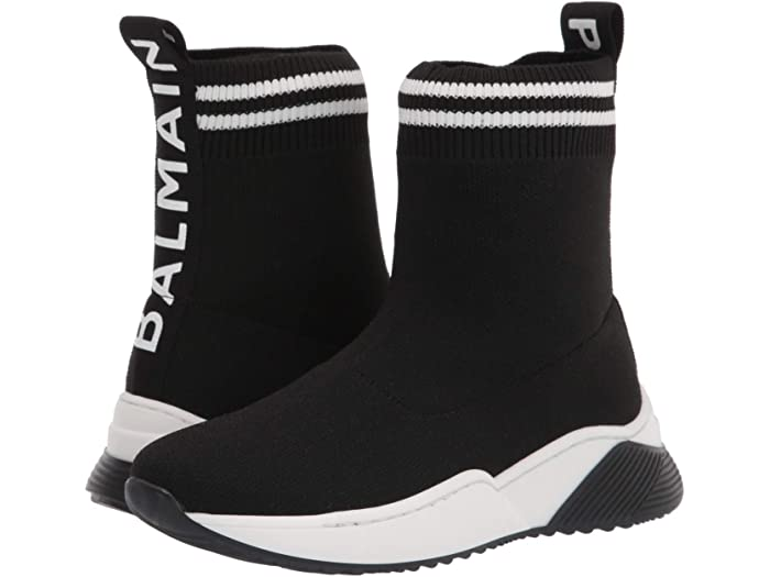 Balmain Kids Sock Sneakers w/ 2 Stripes