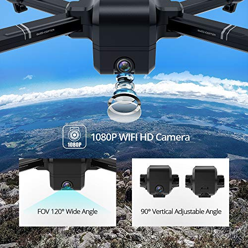 DEERC DE25 Drone with Camera 1080P HD Camera Drone FPV Live Video and GPS Auto Return Compact RC Quadcopter for…