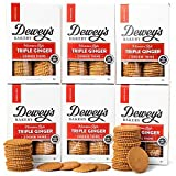 Dewey's Bakery Triple Ginger Moravian Style Cookie Thins   Baked in Small Batches   Real, Simple Ingredients   Time-Honored Southern Bakery Recipe   9 oz (Pack of 6)