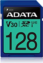 ADATA Premier Pro 128GB SDXC UHS-I Class 10 (U3) Memory Card, V30 Video Speed Class