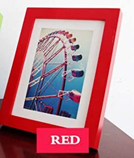 Betsy Bertram 14 Colors Thicken Solid Wood Photo Frame with Size 5 6 7 8 10 12 16 20 inches A4 A5 Desk Decoration Studio Certificate Frame,RED,A4