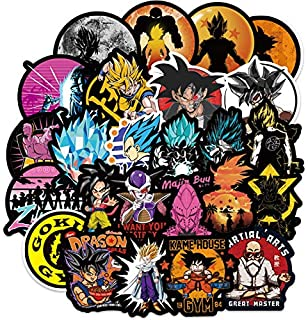 POOCO 100Pcs Dragon Ball Z Graffiti Laptop Stickers Japanese Anime Cool Decals for Water Bottle Skateboard MacBook Yeti Helmet Guitar (100Pcs-B)