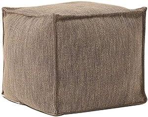 Dall Fußhocker Polsterhocker Moderne Osmanen Sofa Hocker Sitzsack Fußstütze Würfel 45 * 45 * 40 cm (Farbe : Brown)