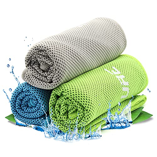 Cooling Towel Kühlendes Handtuch,Kühlhandtuch Cool Towel Sporthandtuch Herren ,Kühlhandtuch Fitness Handtuch für Golf,Fitness,Sport,Reise,Yoga (Blau,Grün,Grau)