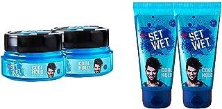 Set Wet Cool Hold Hair Styling Gel for Men, 250 ml (Pack of 2) & Set Wet Cool Hold Hair Styling Gel For Men, 100ml (Pack of 2)