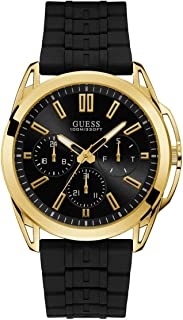 GUESS Mens Quartz Watch, Analog Display and Silicone Strap - W1177G2