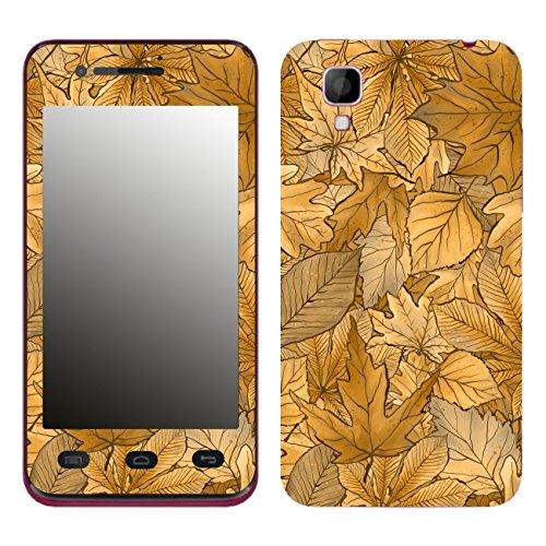 DISAGU SF-106204_1188 Design Folie für Wiko Sunset - Motiv Herbstblätter_Sepia