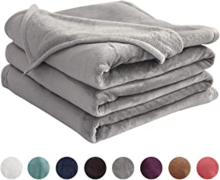LIANLAM King Size Fleece Blanket Lightweight Super Soft and All Season Warm Fuzzy Plush Cozy Luxury Bed Blankets Microfiber (Grey, 104