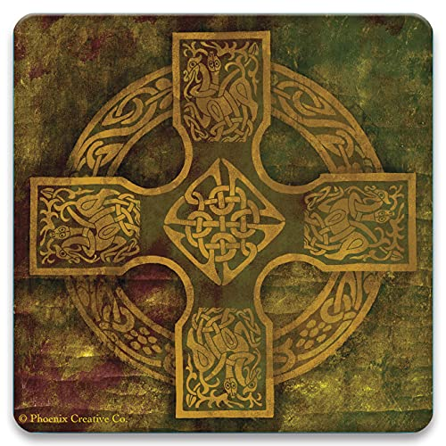CoasterStone Absorbent Coaster Drinks Celtic Cross IV, 4.25 Inches Wide, Set of Four
