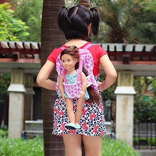 ZITA ELEMENT Kinderrucksack Rucksack Puppe Carrier Schlafsack Puppentrage für 38-46cm Puppen und American 15 -18 Zoll Girl Doll Puppen und Puppenkleider Puppen Zubehör