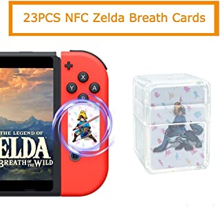 23 pcs NFC Tag Game Cards for the Legend of Zelda Breath of The Wild Switch Mini Cards with Card Case
